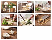 How to prepare wholemeal bread with courgette and herb quark