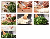 How to prepare kale with chilli and onions (Asia)