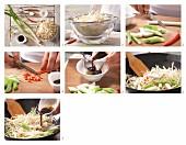 Gebratene Mungobohnensprossen mit Frühlingszwiebeln zubereiten