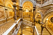 The staircase at the City Chambers in Glasgow, Scotland