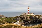 Leuchtturm auf der Harrisinsel Scalpay, Schottland