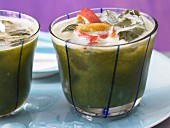 Green nectarine drink with sorrel