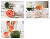 How to prepare a spinach drink with grapefruit juice