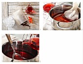 How to prepare hibiscus iced tea with cranberry juice