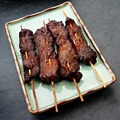 Teriyaki beef skewers