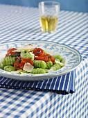 Gnocchi with tomato sugo and Parmesan