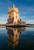 The Torre de Belém, the landmark of Lisbon, Portugal