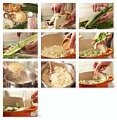 Gurken-Fischragout mit Reis zubereiten