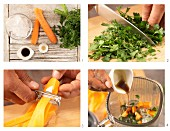 How to prepare carrot and parsley smoothie