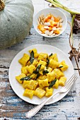 Gnocchis with pumpkin and sage