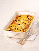 Sweet bread pudding with raisins and lemon zest (Florence, Italy)