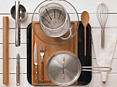 Kitchen utensils for a potato dish