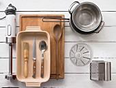Kitchen utensils for potato gratin