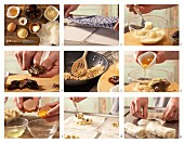 Süße Teigrollen mit Datteln zubereiten