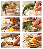 How to prepare trout in a bread roll with horseradish quark