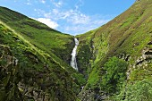 Following the traces of Sir Walter Scott: the Grey Mare's Tail waterfall in the Scottish Lowlands