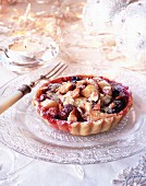 Fruit and nut tart for Christmas