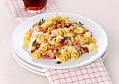 Fusilli with crescenza and ham