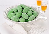 Green marzipan olives from Sicily