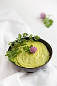 Avocado dip in a bowl