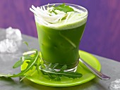 Rocket and celery drink with fennel