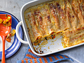 Cannelloni with Hokkaido pumpkin and pumpkin seeds