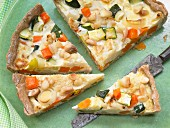 Vegetable tart with almonds
