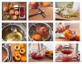 Pochierte Pfirsiche zubereiten