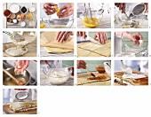 Mohn-Hagebuttenschnitten mit Apfelkompott und Quarkcreme zubereiten
