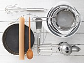 Baking Utensils in Glass Mixing Bowl