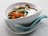 Chard and carrot with quark and mint
