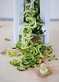 Cucumber spirals with a spiraliser