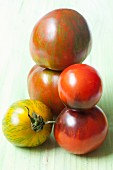 Assorted organic tomatoes