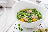 Pea soup with spelt dumplings