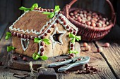 A traditional gingerbread house as a Christmas present