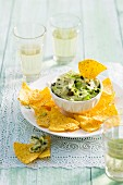 An avocado dip with tuna and capers
