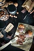 Hazelnut eclairs with nuts