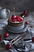 A maraschino cherry tartlet