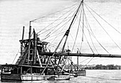 19th Century dredger on Panama Canal