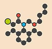 Butachlor herbicide molecule