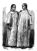 19th Century Kanak women,illustration