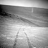 Martian dust devil,Mars rover image