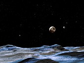 Pluto and Charon,illustration