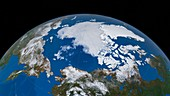 Arctic ice minimum extent,2016