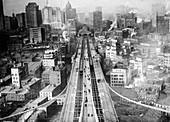View from Brooklyn Bridge,20th century
