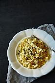 Krautfleckerln (pasta and cabbage)