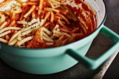 Pasta with tomato and vodka sauce