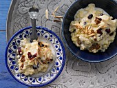 Oriental-style sweet millet with cranberries and almonds