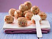 Turkey balls with peppers