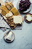Cheese, crackers and grapes